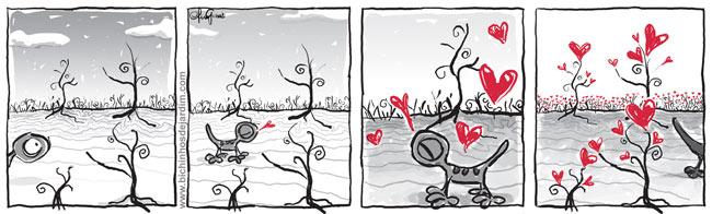 'no coração da cidade cinza'