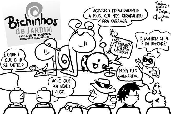 Bichinhos na premiação do Blogbooks