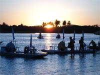 Pôr-do-sol no mangue